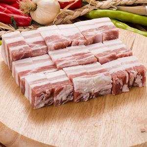 ▲冷凍▼豚バラ肉角切り1kg■韓国食品■ 0462