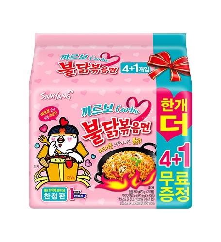 カルボブルダック炒め麺【4+1個】■韓国食品■2484s