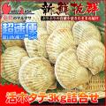 [かにのマルマサ]活ほたて貝3kg[12-18枚]北海道産 活ホタテ[活帆立貝] 超速便