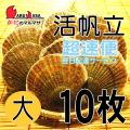 [かにのマルマサ]活ほたて貝 [大] 10枚セット 北海道産 活ホタテ [活帆立貝] 超速便 贈り物 ギフト