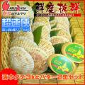 [かにのマルマサ]活ほたて貝3kg[12-18枚]北海道よつ葉バター2缶セット[活帆立貝] 超速便