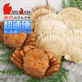 [かにのマルマサ]北海道直送 ボイル毛がに[350g 2尾]・活ほたて貝1kg[海鮮Gセット・ボイル]/活毛蟹専門店/超速便