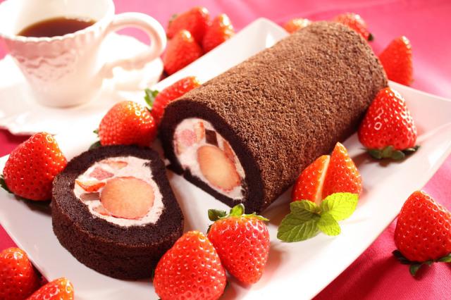 朝摘みいちご,完熟いちご,生チョコロール,いちごロール