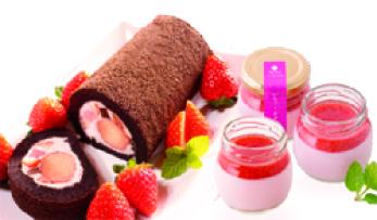 朝摘みいちご,完熟いちご,生チョコロール,いちごロール,バレンタイン,プリン