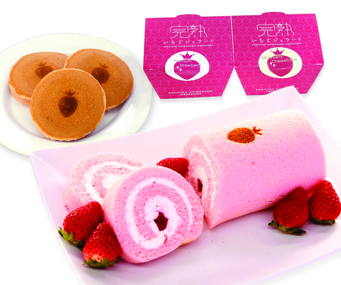 ギフトセット、お歳暮、お年賀、プレゼント、完熟いちご、ロールケーキ、パンケーキ