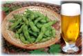 だだちゃ豆とビール
