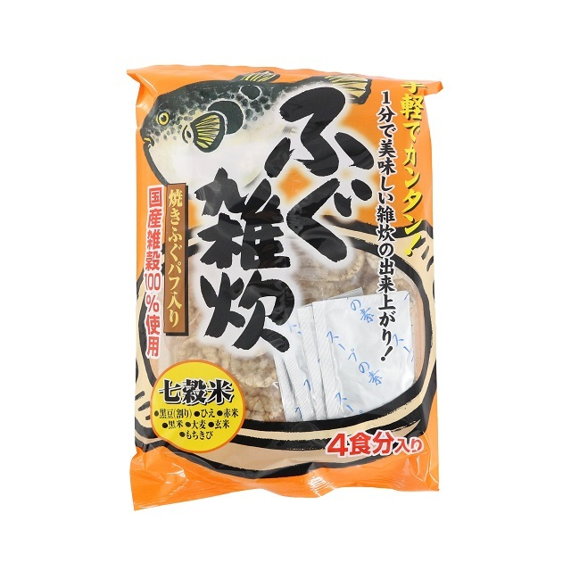 G628 ふぐ雑炊4食(フリーズドライ)(フグ 河豚)