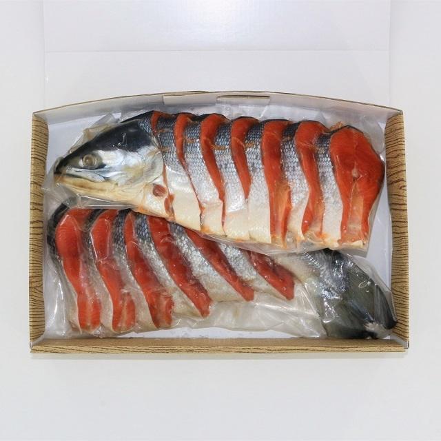 ★K024 紅鮭1尾姿切身(約1.5kg)(さけ サケ)