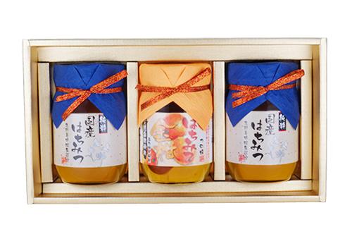 蜜ギフト 国産蜂蜜(500g×2本)・きんかん蜂蜜漬け(450g)ギフトセット