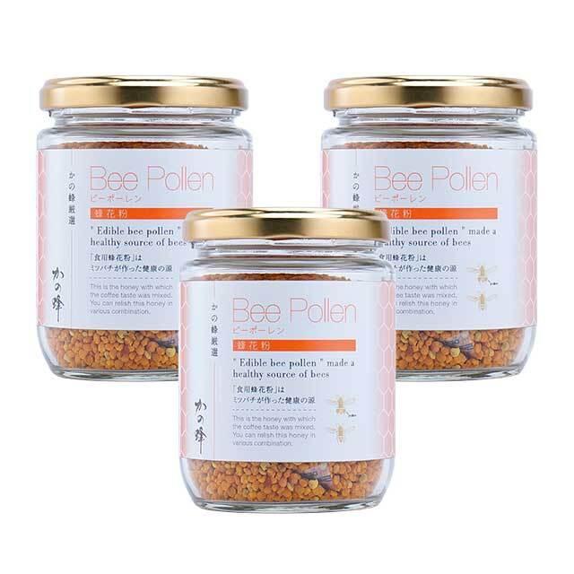 【その他】スペイン産ビーポーレン蜂花粉×3個セット 季節の蜂蜜90g3個プレゼント