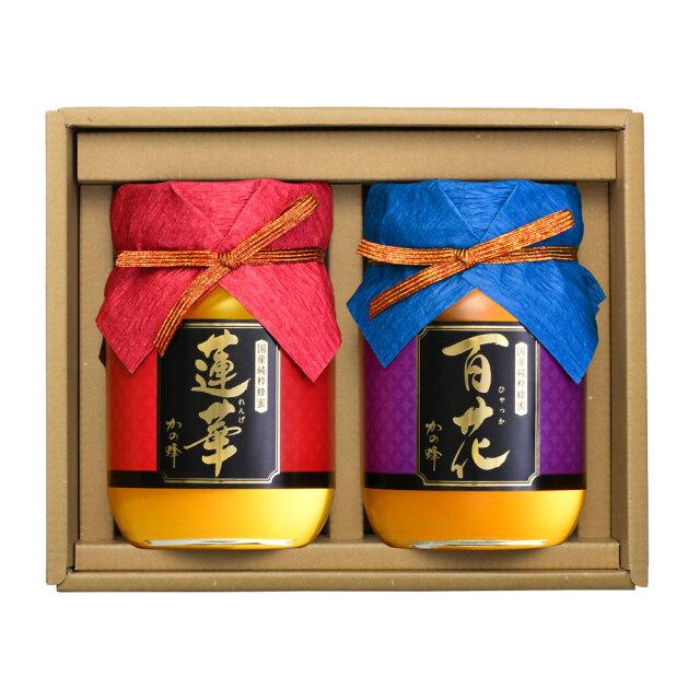 【蜂蜜ギフト】国産九州レンゲ・百花蜂蜜500gギフトセット