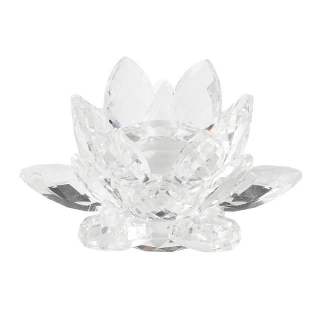 【ハーバリウム】クリスタルガラスハーバリウムスタンド蓮