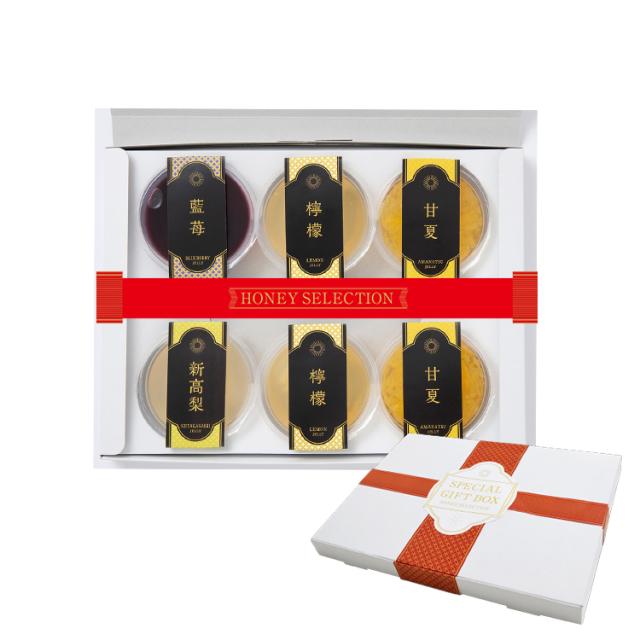 【お中元ギフト】国産フルーツゼリー4種(6個)セット 国産果実100%使用