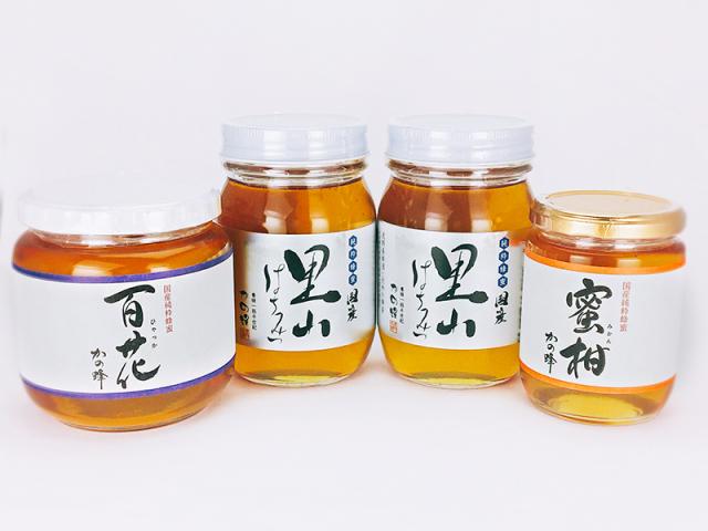 【解体セール】国産百花蜂蜜600g・国産里山蜂蜜500g×2本・国産みかん蜂蜜300gセット