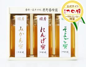 【お歳暮ギフト】国産蜂蜜ギフト250g×3本セット