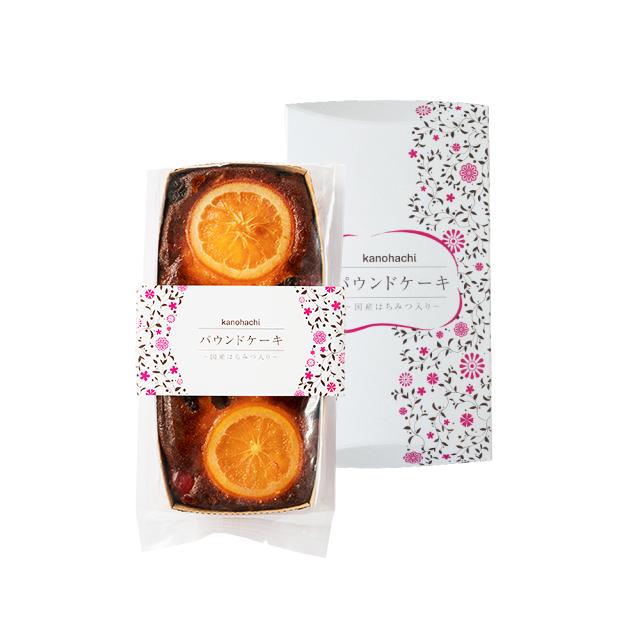 【お菓子】はちみつパウンドケーキ (オレンジ&レーズン) 約300g