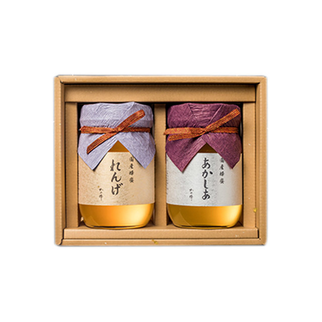 【蜂蜜ギフト】国産蜂蜜ギフト500g×2(れんげ・あかしあ)