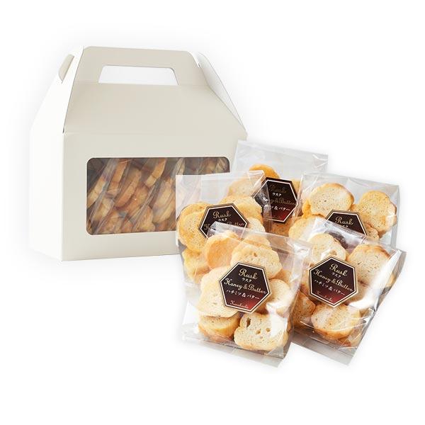 【お菓子】ハチミツラスク70g バター風味×5袋セット(化粧箱)