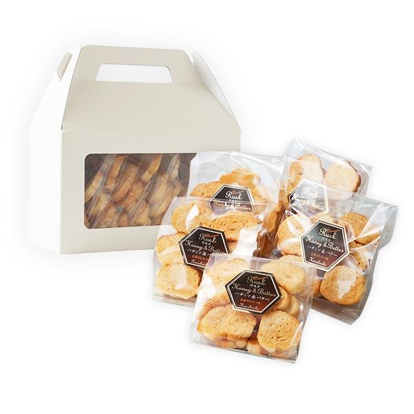 【お菓子】ハチミツラスク70g ジンジャー風味×5袋セット(化粧箱)