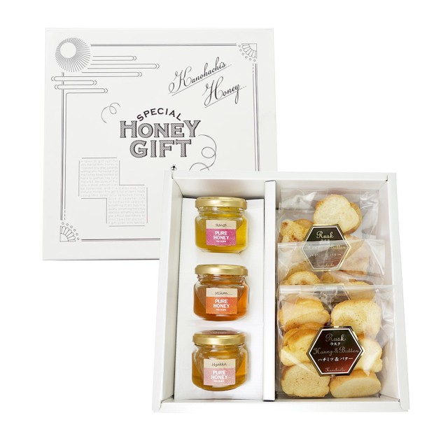 【蜂蜜ギフト】はちみつラスク&国産蜂蜜3種セット