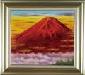 油絵・F10 小林幸三 「赤富士」