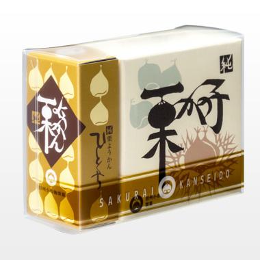 【お手軽セレクション】YK11(ひとくち栗ようかん1本・栗かの子1個/ケース入)