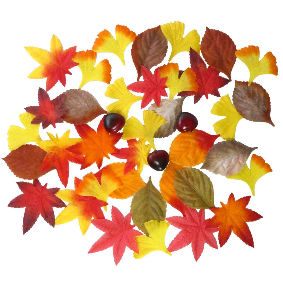 秋の紅葉落ち葉セット_01