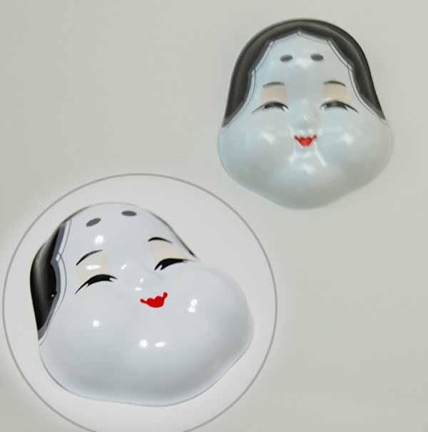 おかめ・オカメ(プラ製):お正月飾り製作用