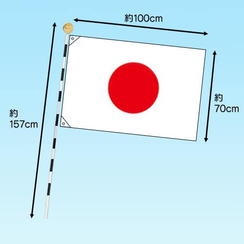 国旗セット・金属棒 03