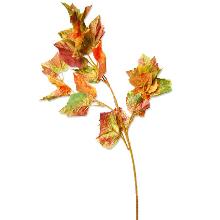 メイプルリーフスプレイ 【造花】秋色葉