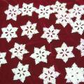 スノーフレーク 片面オーロラ・裏白色 PVC製 30枚入 直径約7cm (雪の結晶) 【クリスマス】