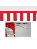 ポリ製紅白幕40cm
