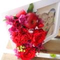 【送料無料】大切な思い出を♪ プリザーブドフラワーアレンジメント「カンパーニュウッドフォトフレーム」 【薫る花】【花 プレゼント ギフト 誕生日 結婚記念日 写真たて 写真立て 還暦祝い】