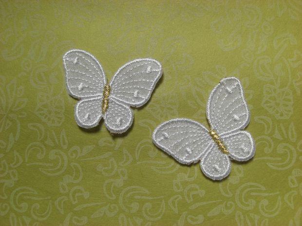 韓国刺繍【クリスタル蝶】