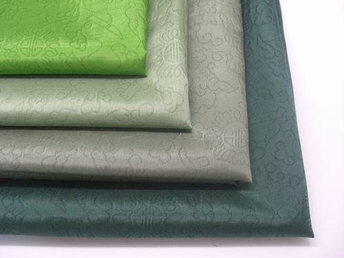 熟庫紗:スッコサ(織模様入り)【緑色系】