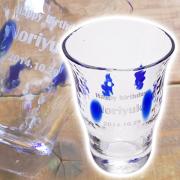 友人への誕生日プレゼントや、お酒好きな父親への贈り物に名入れ焼酎グラスロングタンブラー青玉