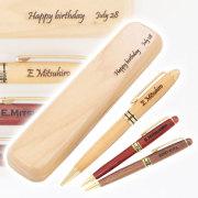 木製 名入れボールペン&ウッドケース付き
