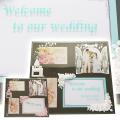 結婚祝いやウェルカムボードにフォトフレーム3ウインドウ スクエア