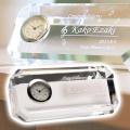 卒業記念や誕生日・退職祝いの記念品にクリスタル時計 アングル