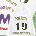 チームやサークルのオリジナル巾着が作れる!名入れ巾着 L