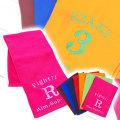 スポーツ観戦やアウトドアなどに刺繍で名入れ カラーマフラータオル 全7色