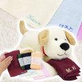 お子さんへの誕生日や出産祝い・名入れ刺繍タオル なでしこ ポケットタオル & いぬのココ