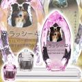 メモリアルクリスタル コーン ピンク PHOT用 手元供養セット(仏器膳付き)