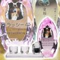 メモリアルクリスタル コーン ピンク PHOT用 手元供養+仏器・茶湯器セット