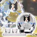 メモリアルクリスタル シェル PHOT用 手元供養+仏器・茶湯器セット
