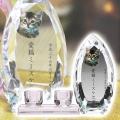 メモリアルクリスタル コーン クリア PHOT用 仏器・茶湯器セット