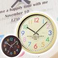 ポップな名入れ掛け時計は誕生日プレゼントや結婚記念日ギフトに