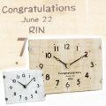 退職祝いや誕生日などに名入れ時計 おしゃれなテーブル&ウォールクロック