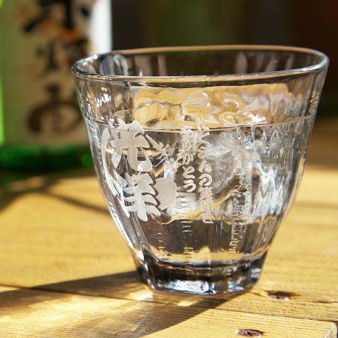 名入れ焼酎ロックグラス 墨流し 誕生日プレゼントに人気!
