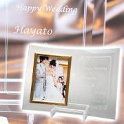 名入れフォトフレーム L版用は結婚祝いや結婚記念日ギフトに